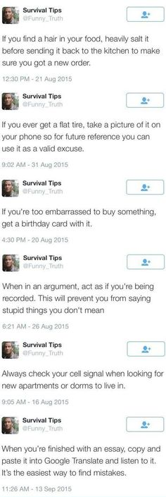 Survival+tips