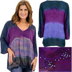 Brushed Sky Long Sleeve Tunic at The Animal Rescue Site