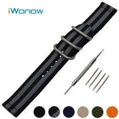 9.39$  Watch now - http://ali4ji.shopchina.info/go.php?t=32773242162 - Nylon Watch Band 20mm for Garmin Vivomove Stainless Steel Pin Buckle Strap Wrist Belt Bracelet Black Blue Orange + Spring Bar  #bestbuy