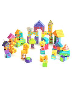 Little ones stack and sort these 50 vibrant blocks into all sorts of structures to help develop their motor and problem-solving skills as well as introduce them to shapes.