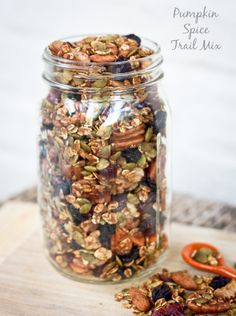 Pumpkin Spice Trail Mix. If your resolution for 2014 is to eat better, why not start with this? Yummy, healthy and it looks gorgeous!