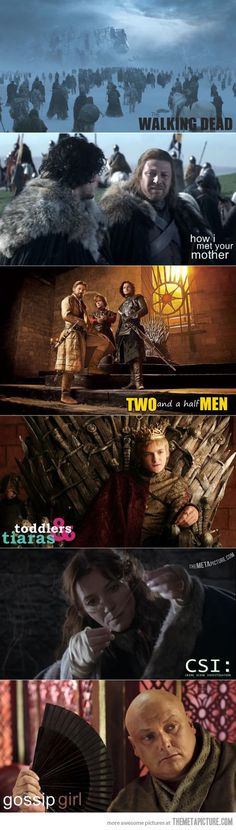 Game of Thrones as other popular TV shows…