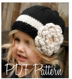 Knitting PATTERN-The Maisie Cloche' Toddler by Thevelvetacorn