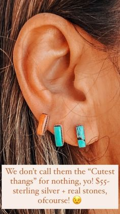 @turquoisetuesday Turquoise Earrings, Sterling Silver, Stone, Jewelry, Rock, Jewlery, Bijoux, Jewerly, Rocks