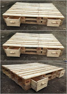 Exquisite DIY Projects Made with Shipping Pallets: Using the ancient wood pallets will show out the rustic and rugged style that come what may makes it appear purposely special.