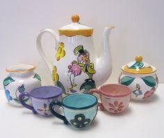 Disney World Alice In Wonderland Mad Hatter Ceramic Tea Pot Variety Gift Set NEW | Tea pots & Disney World Alice In Wonderland Mad Hatter Ceramic Tea Pot Variety ...
