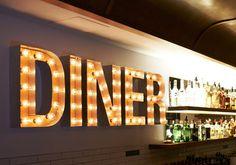 Belle's Diner, 152 Gertrude Street, Fitzroy Restaurant Streets, Restaurant Branding, Restaurant Design, Restaurant Bar, 50s Diner Kitchen, Eat In Kitchen, Kitchen Ideas, Kitchen Design, Melbourne Street