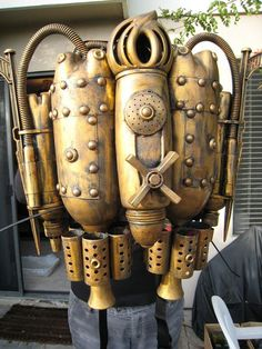 Steampunk jet pack.
