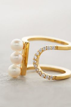Pearled Treble Ring - anthropologie.com #anthrofave