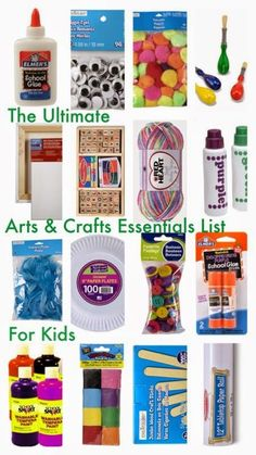 The Ultimate Arts and Crafts Essentials List for Kids | A Guide for Craft Closet | Gift Ideas for Kids || The Chirping Moms