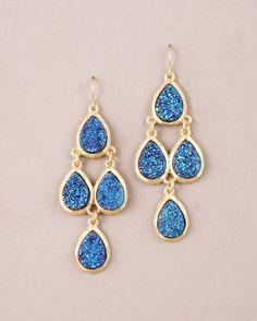 Druzy Chandelier Earrings. $40.00
