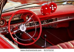 vintage car - red!