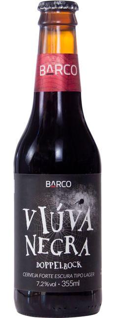 Cerveja Viúva Negra, estilo Doppelbock, produzida por Barco, Brasil. 7.2% ABV de álcool.