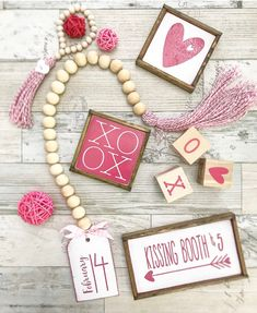 Mix and match items, mini signs, garlands, love dice, etc. Pink & White Valentines Day tiered tray set Mix and match Sinful Colors, Valentines Day Decorations, Valentines Diy, Walmart Valentines, Wedding Decorations, Valentine's Day Quotes, Crafts To Make And Sell, Sell Diy, Essie