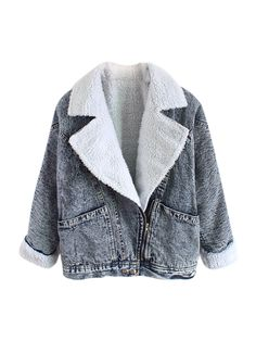 Hot Sale Long Sleeve Thicken Vintage Denim Coats
