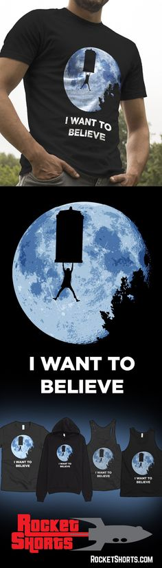 I Want To Believe - Doctor Who, E.T. and X-Files Mashup - Be sure to follow us for more cool stuff! (Top Design Brands)