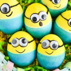 Kids will love these dyed Minion Easter Eggs!