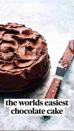 Best Chocolate Cake, Chocolate Cookies, Chocolate Desserts, Tea Recipes, Cake Recipes, Dessert Recipes, Flourless Cake, Nutella Cake, Fudge Cake