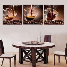 Caffeine Sensation Multi Panel Canvas Wall Art