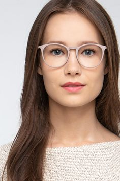 Faded Rose oval eyeglasses available in variety of colors to match any outfit. These stylish full-rim, large sized plastic eyeglasses include free single-vision prescription lenses, a case and a cleaning cloth. Cheap Eyeglasses, Round Eyeglasses, Eyeglasses For Women, Cute Glasses, Glasses Frames, Childrens Glasses, Glasses For Round Faces, Lunette Style, Rose Frame