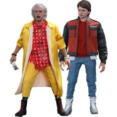 Back to the Future 2 - Marty McFly and Doc 1/6th Scale Hot Toys Action Figure Bundle