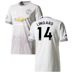 Jesse Lingard Manchester United adidas 2017/18 Third Replica Patch Jersey - Gray