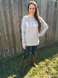"Grey ""Hey Y'all"" Sweatshirt  http://shopalittlepeaceofjoy.bigcartel.com/product/grey-hey-y-all-sweatshirt"
