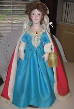 """Porcelain Collectible Doll - """"Queen Anne"""""""