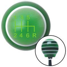 Green Shift Pattern 41n Green Stripe Shift Knob with M16 x 15 Insert