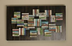 Terrain fused glass wall piece.  Want to make a larger piece like this for our dining room.  www.elucook.com