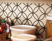 Kitchen backsplash, pantry or bathroom upgrade - vinyl quatrefoil design -. $3.00, via Etsy.
