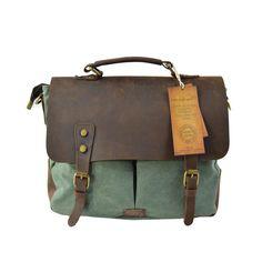 Canvas tecka 2 tasche Zielony Messenger Bag, Bags, Fashion, Dime Bags, Handbags, Moda, Fasion, Totes, Hand Bags