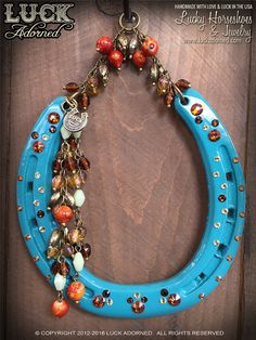LUCKY HORSESHOE horseshoe art wall decor equine art by LuckAdorned