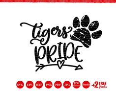 School Spirit Wear, School Spirit Shirts, School Shirts, Teacher Shirts, School Tshirt Designs, Homecoming Floats, Tiger Moms, Arrow Svg, Tiger Shirt