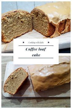 Easy and delicious, this coffee loaf cake has a light sponge topped with sweet icing. Easy and delicious, this coffee loaf cake has a light sponge topped with sweet icing. Coffee Sponge Cake, Coffee Cake Loaf, Coffee And Walnut Cake, Loaf Cake, Coffee Icing, Cake Recipes Uk, Sweet Recipes, Baking Recipes, Dessert Recipes