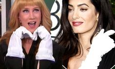 Kathy Griffin targets Amal as she replaces Joan on Fashion Police