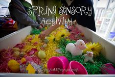 """""""Memories establish the past; senses perceive the present; imaginations shape the future."""" ~Toba Beta The smalls love sensory play. It's a fact. And why not? Through their senses…"""