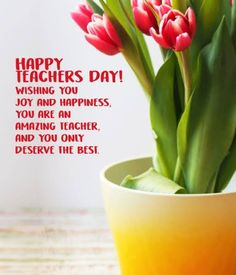 Happy Teachers Day, Teachers' Day, Joy And Happiness, Morning Quotes, Food, Diy, Plants, Bricolage, Essen