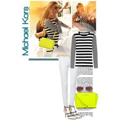 """""""Stripes/neon"""" by nidaloves on Polyvore"""