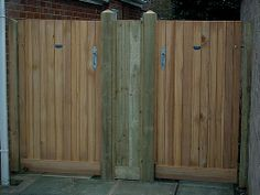 cedar tongue & groove effect garden side gate
