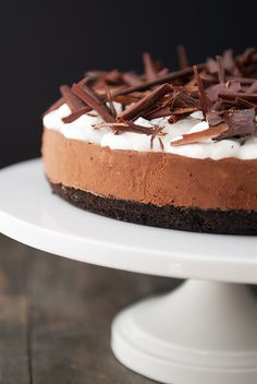 french silk pie recipe | use real butter For my son Matt who loves chocolate cream pie!