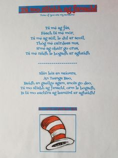 Graduation song for naionra , inspires by Dr Seuss Kid youll mountains
