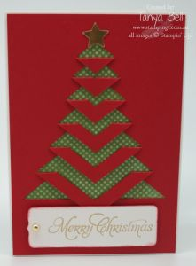 Stampin' Up! Stamping T! - Lace Folded Christmas Card 1