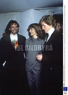 October 9, 1988:  Princess Diana with Jean-Michel Jarre and his wife Charlotte Rampling after his Royal Victoria Docks' Extravaganza in London.
