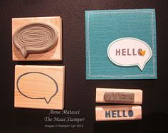 Maui Stamper Stampin' Up! Undefined Carve Your Own Stamp thought bubble