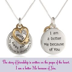 The Story of Friendship Pendant Necklace | Gifts for Best Friend