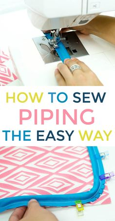Fantastic 50 Sewing tips are readily available on our web pages. Awesome 100 Sewing tips are offered on our web pages. Have a look and you wont be sorry you did. How to Sew Piping The Easy Way - Looking to add piping to one of your projects? Piping is suc Sewing Hacks, Sewing Tutorials, Sewing Crafts, Sewing Tips, Sewing Ideas, Sewing Lessons, Sewing Art, Sewing Blogs, Sewing Piping