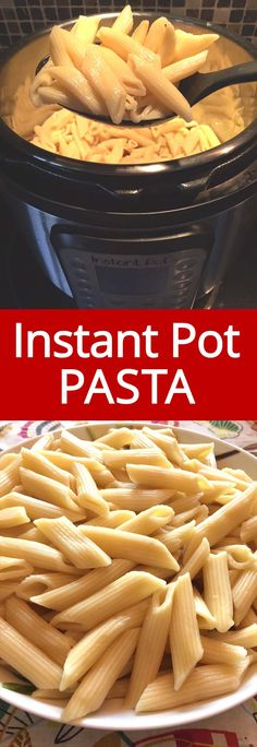 Once you try cooking pasta in the Instant Pot, you'll never make it any other way! So quick and easy, and no need to drain the pasta! Instant Pot pasta is always perfectly cooked!