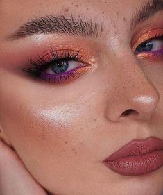 Edgy Makeup, Makeup Eye Looks, Creative Makeup Looks, Eye Makeup Art, No Eyeliner Makeup, Kiss Makeup, Love Makeup, Beauty Makeup, Makeup Inspiration