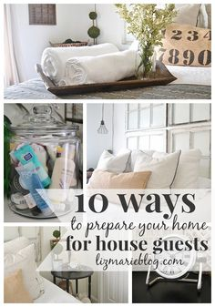 10 awesome tips & tricks on how to prepare your house for overnight guests. Some of them you probably never thought of! - lizmarieblog.com Bed And Breakfast, House Tours, Spare Room, Guest Bedrooms, Casa Ideal, Bedroom Decor, Bedroom Ideas, Bedroom Office, Master Bedroom